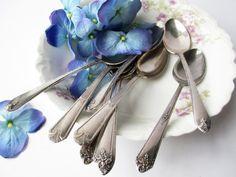 Vintage Teaspoons Silverplate Rogers Oneida Set of by jenscloset