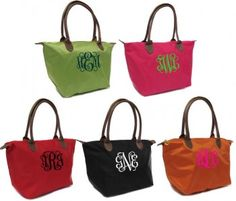 Monogrammed Longchamp Style Purse TinyTulip.com We're All About Personalization - Gifts Monogram Embriodery