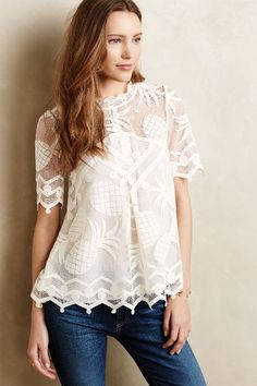 Pina Lace Top - anthropologie.com- when this goes on sale!