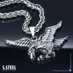Oakky Mens Stainless Steel Vintage Scorpion Pendant Necklace Silver Gold Color with Chain
