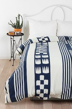 rban Outfitters Magical Thinking Tent Stripe Duvet Cover