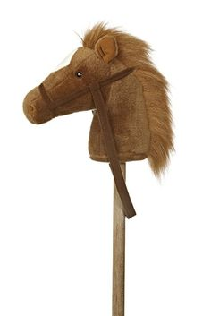 "Aurora 02416 World World Giddy-Up Stick Horse 37"" Plush, Brown"