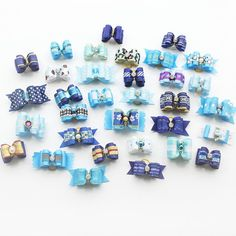 Dog Hair Clips-10 Pcs Handmade Dog Bow Grooming Bows For Puppy Dogs Accessories