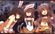 Nightcore - This is Halloween (Female Ver.) In this town, we call home, everyone hail to the pumpkin song! Anime Halloween, Halloween Hats, Halloween Party Themes, Manga Girl, Manga Anime, Chen, Link Youtube, Anime Shows