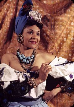 """Katherine Dunham-A humanitarian Diva, she is the creator of the Dunham style dance and founder of the Katherine Dunham Dance Company (early 1930's). She was """"the matriarch and queen mother"""" of Black American Dance and a working and engaged anthropologist, dancer, choreographer, educator, writer, social activist. At the age of 82 she went on a 47 day hunger strike to protest against the US's forced repatriation of Haitian refugees during the early 90's."""