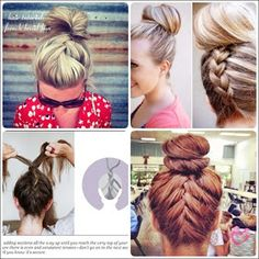 Hairstyles 2013 |Hair Ideas |Updos: Simple French braid updo hairstyles for medium hair