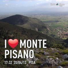 Il Monte Castellare visto dal Monte di San Giuliano rispetta la vita rispetta la Natura