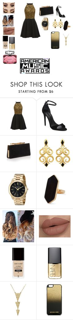 """AMA's"" by eldrianmcdonnell ❤ liked on Polyvore featuring Alexander Wang, Jimmy Choo, Jaeger, NARS Cosmetics, MICHAEL Michael Kors and Gucci"