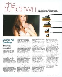 """DALLAS Hotel Mag.  ARTIS Fluenta Brush Collection  the rundown  """"Brushes with Greatness"""""""