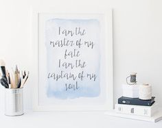 Ernest Hemingway quote print literary gifts by BeauTypographie