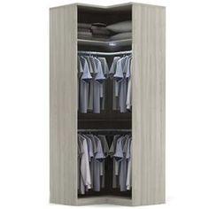 Guarda-Roupa de canto Kappesberg Square C540 com 2 Portas - Nacre - Guarda-roupas Modulados no Pontofrio.com