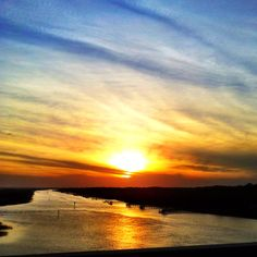 Sunset at Ocean Isle Beach, NC taken from the Odell Williamson Bridge