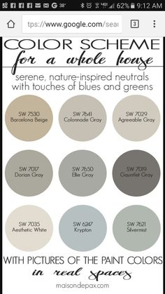 6 Fabulous Cool Ideas: Natural Home Decor Rustic Master Bath natural home decor earth tones brown.Natural Home Decor Ideas Air Freshener natural home decor earth tones design seeds.Natural Home Decor Rustic Lamps. Interior Paint Colors, Paint Colors For Home, Paint Colours, Neutral Colors, Living Room Paint Colors, Lowes Paint Colors, Best Bedroom Paint Colors, Greige Paint Colors, Paint Colors Laundry Room