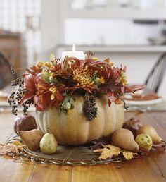 DIY- Fall pumpkin centerpiece