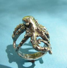 Sterling Silver Octopus Ring by westernmountain on Etsy, $25.00 really would have to be sterling, size 5 or 6