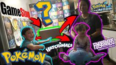 Our FIRST Unboxing as a family! Gamestop sent us a box full of TOYS GAMES AND POKEMON CARDS!! Watch it on our Youtube Channel. #pokemon #cards #fingerlings #hatchimals #sunandmoon #ultramoon #unboxing #opening #review #toys #games #videogames #gamestop #suprise #mystery #hardcorllector #first #family #fun #instagram #follow #facebook #friends
