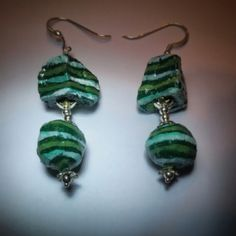Orecchini RECYCLE in cartapesta ed argento - RECYCLE earrings in papier mache and sterling silver #jewellery #salento #cartapesta #earrings #ORECCHINI
