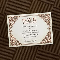 Baroque Beauty - Save The Date Magnet - Save the Date - Wedding Ideas