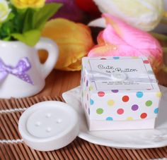 Cute As A Button Soap, Scented, Baby Shower Gift Boxed