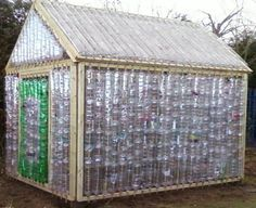 20 Amazing DIY Plastic Bottle Greenhouse Ideas for Low Budget — Fres HoomIf you wish to make a more positive mark on the environment you can accomplish this goal by utilizing plastic bottles in afun and innovative way. A plastic bottle greenhouse…A co Diy Greenhouse Plans, Outdoor Greenhouse, Greenhouse Effect, Build A Greenhouse, Greenhouse Gardening, Greenhouse Wedding, Homemade Greenhouse, Greenhouse Cover, Cheap Greenhouse