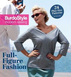Sew stylish, flattering garments for plus-size women in sizes from 14 to 24. Included in this collection are all of the must-have basics of a woman's wardr