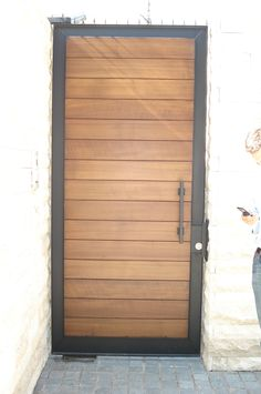 House Gate Design, Door Gate Design, Front Door Design, Fence Design, Porch Doors, House Doors, Tor Design, Internal Sliding Doors, Side Gates