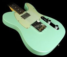 2012 Fender Custom Shop Wildwood 10 '61 Humbucker Tele Relic Electric Guitar Surf Green - Used