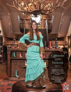 Love the dress by Marrika Nakk and the boutique 'Cowboys and Indians of Santa Fe '