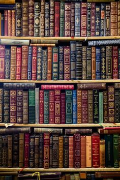 Shelves of Old Books ....