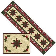 Holly Jolly Holiday Elf Here He Comes Tablerunner Placemat Christmas Kit #RJR360Project