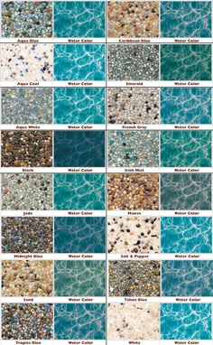 StoneScapes Mini Pebble - this colour chart is great for using in the bottom of mini aquariums or ponds