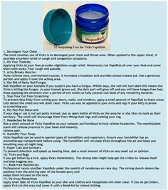 Watch This Video Sensational Natural Remedies for Chest Congestion Relief Ideas. Captivating Natural Remedies for Chest Congestion Relief Ideas. Vicks Vapor Rub Uses, Uses For Vicks, Vicks Rub, Natural Home Remedies, Herbal Remedies, Health Remedies, Flu Remedies, Holistic Remedies, Chest Congestion Remedies