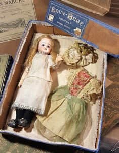 All Original tiny,,Eden bebe,,Fleischman&blödel orig. Old Dolls, Antique Dolls, Vintage Dolls, Dollhouse Dolls, Miniature Dolls, Victorian Toys, Doll Display, Bear Doll, Creepy Dolls