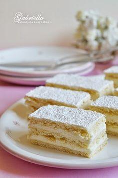 Gabriella kalandjai a konyhában :): Hófehérke Vanilla Cake, Cake Recipes, Sweet Treats, Food And Drink, Hungarian Recipes, Sheet Cakes, Bakken, Dump Cake Recipes, Sweets