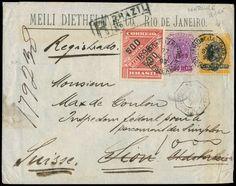 Brazil 1899-1920, drei bessere Recobriefein die Schweiz, nach Frankreich und Italien, ein Stück siehe Foto  Dealer Schwanke GmbH  Auction Starting Price: 150.00 EUR