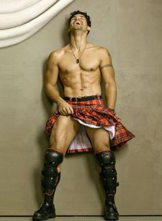 I do love me a man in a kilt. Almost as much of a man out of a kilt.