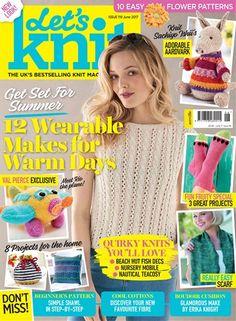 Let's Knit issue 119 June 2017 Take a look inside our latest issue! Love Knitting, Simply Knitting, Knitting Books, Crochet Books, Knitting For Kids, Baby Knitting Patterns, Knitting Stitches, Baby Patterns, Knit Crochet