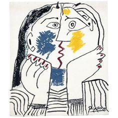 Picasso Tapestry 'The Kiss / Le Baiser,' circa 1980 | 1stdibs.com
