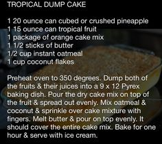 Tropical dump cake recipe