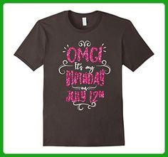 Mens OMG! It's My Birthday On July 12th Birthday Girls T Shirt Medium Asphalt - Birthday shirts (*Amazon Partner-Link)