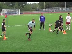 Pass and Sprint Reaction Drill - YouTube