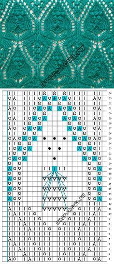 patrón de calados en el esquema japonés | patrón de tejer con agujas directorio