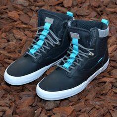 edd2f69065 Vans Lynwood Wool Black White Men s Hi Top Skate Shoes Size 13