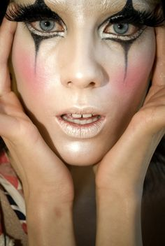 Love the eyes.  May steal for my own make-up. clown-style-for-costume-inspiration @Brittany Faas