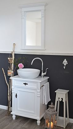 Amazing cm Breite Loirette Landhaus Waschtisch mit Handtuchstange von Badm bel Landhaus Land