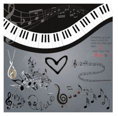 """""""Love music 🎶"""" by cutiepug ❤ liked on Polyvore featuring art"""