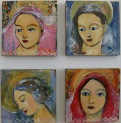 She watches over women who dance on tables by ipaintpictures, $25.00
