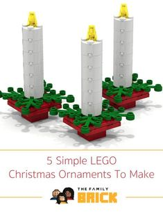 5 Simple LEGO Christmas Ornaments To Make More