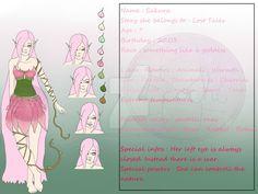 Sakura Character Sheet by Ecochiartworks