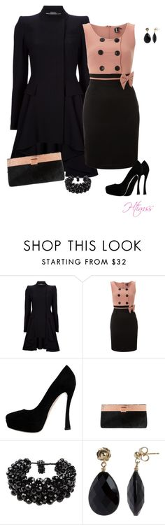 """""""A nite out..."""" by htimss ❤ liked on Polyvore featuring Alexander McQueen, Izabel London, Miu Miu, Ted Baker, NUR and Cobra & Bellamy"""